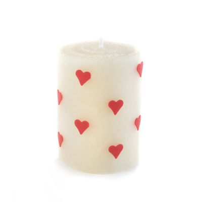 Heart Pillar Candle - 4""