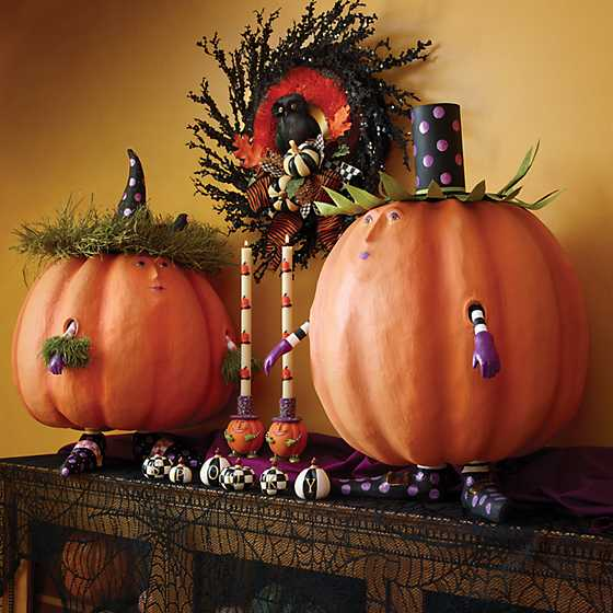 Pumpkin Dinner Candles - Set of 2 image two