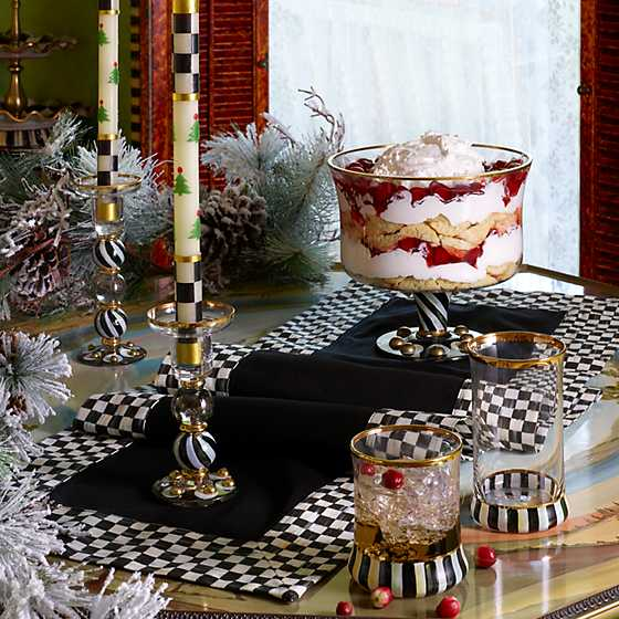 Courtly Christmas Dinner Candles - Set of 2 image two