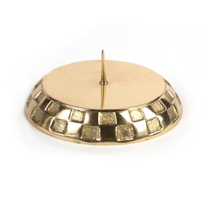 Check Pillar Candle Holder - Gold