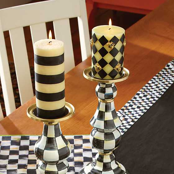 "Bee Pillar Candle - 4"" - Black image two"