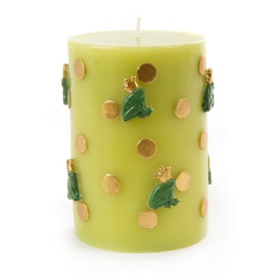 Frog Pillar Candle - Gold
