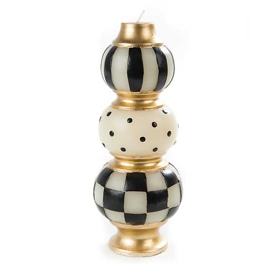 Finial Candle - Black & Ivory image one