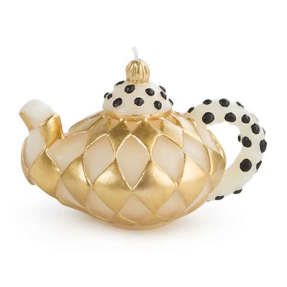 Diamond Teapot Candle - Gold image two