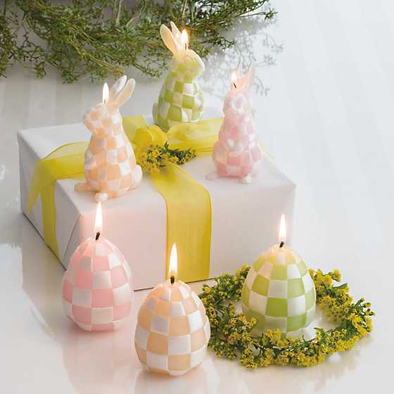 Pastel Rabbit Candles - Set of 3 image two