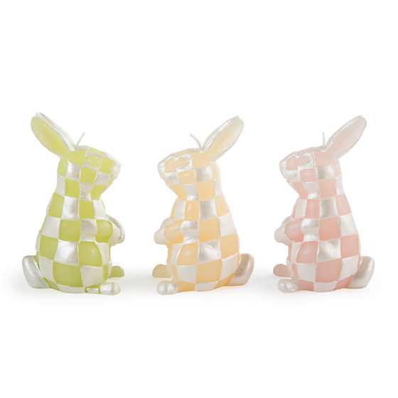 Pastel Rabbit Candles - Set of 3
