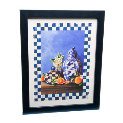 Royal Check Still Life Wall Art - Vase