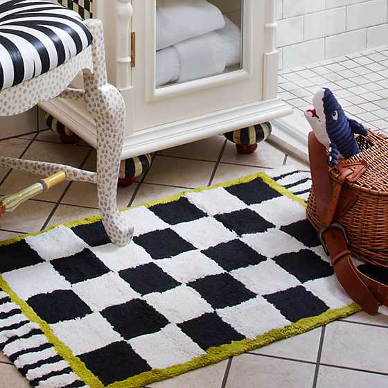 Courtly Check Bath Rug - Standard image five