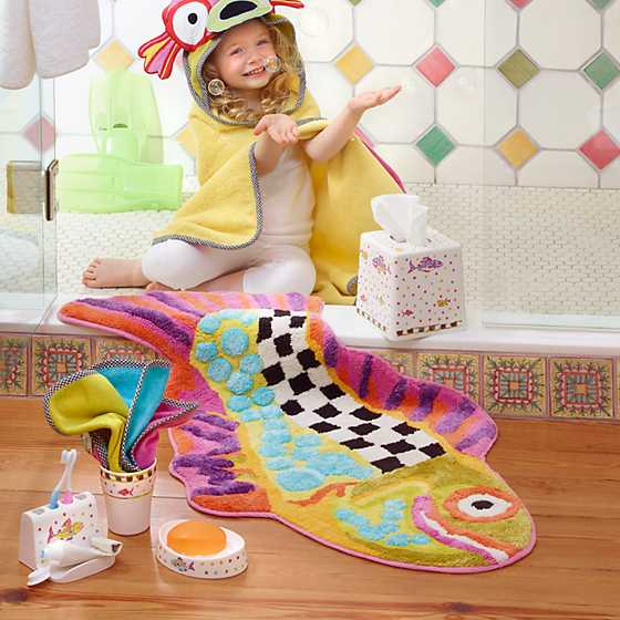 Happy Fish Bath Rug image three
