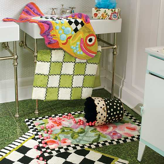 Happy Fish Bath Rug image four
