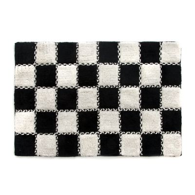 Covent Square Bath Rug - Black & White
