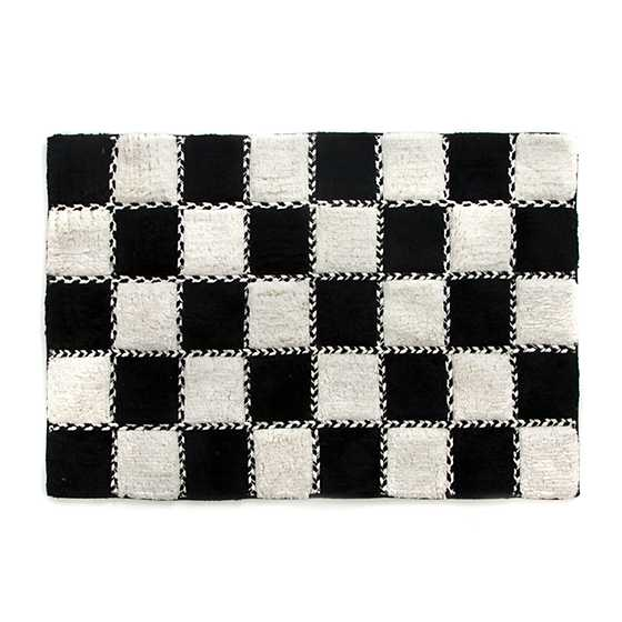 Covent Square Bath Rug Black White