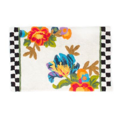 Flower Market Bath Rug
