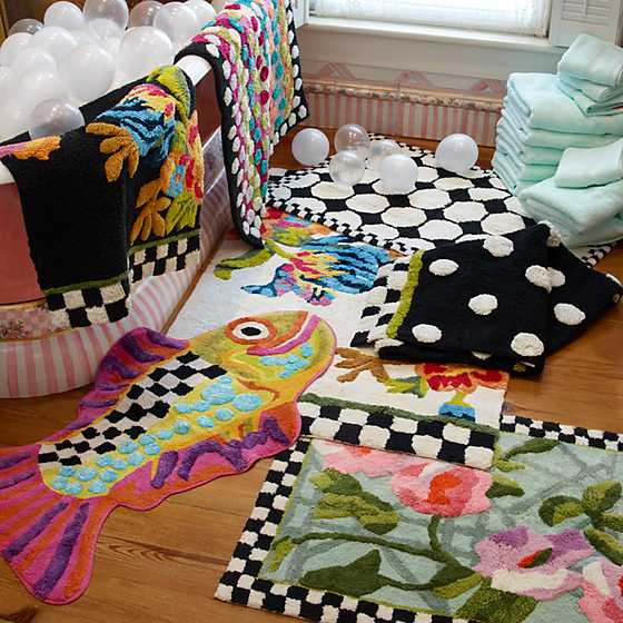 Ribbon & Dot Bath Rug image two