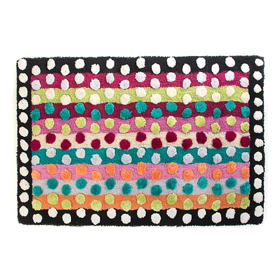 Ribbon & Dot Bath Rug image one