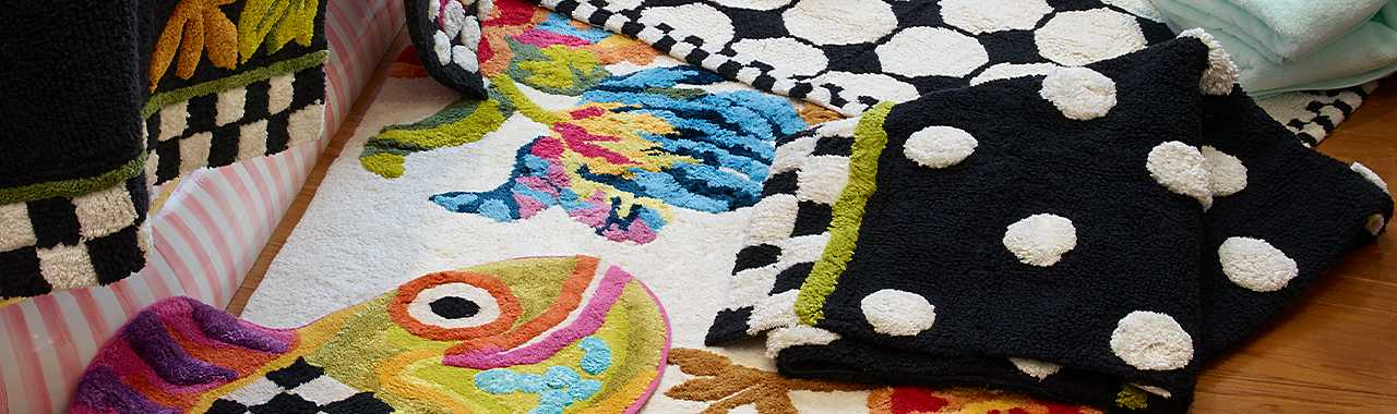 Dotty Bath Rug Banner Image