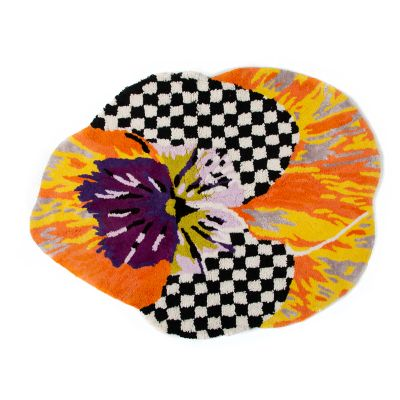 Image for Pansy Bath Rug - Orange
