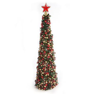 Tartan Frost Beaded Tree - Medium