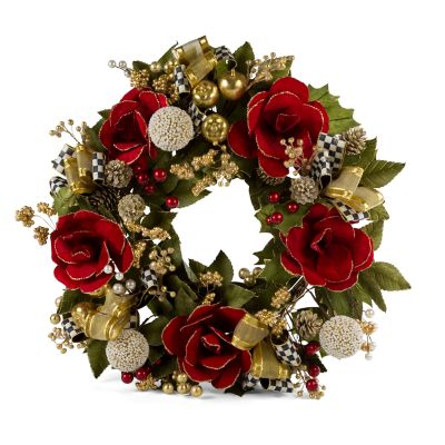 Garnet Magnolia Wreath - Large