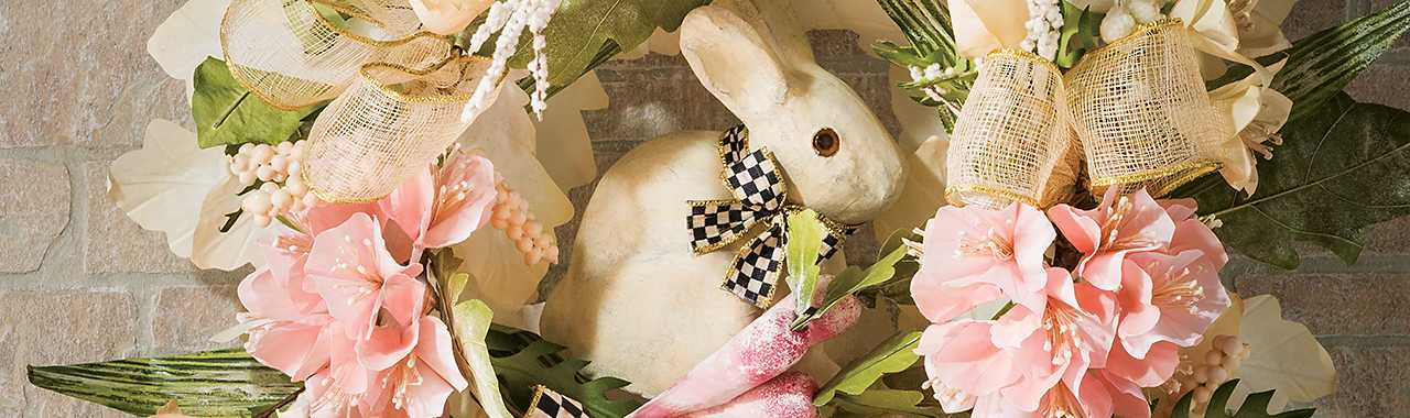 Cottontail Wreath Banner Image