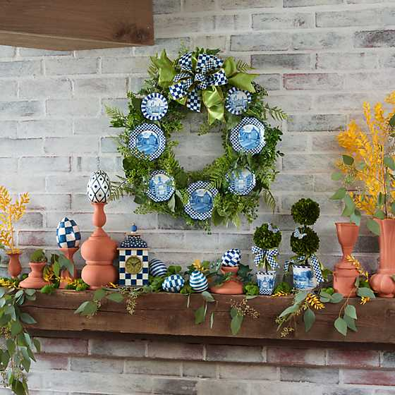 Fern Wreath - Royal Toile image two