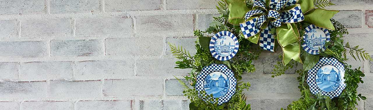 Fern Wreath - Royal Toile Banner Image
