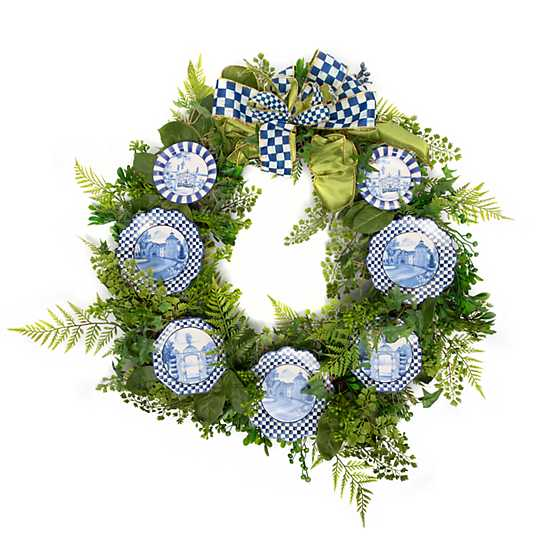 Fern Wreath - Royal Toile image one