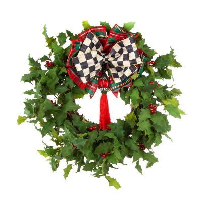 Holly Tassel Wreath