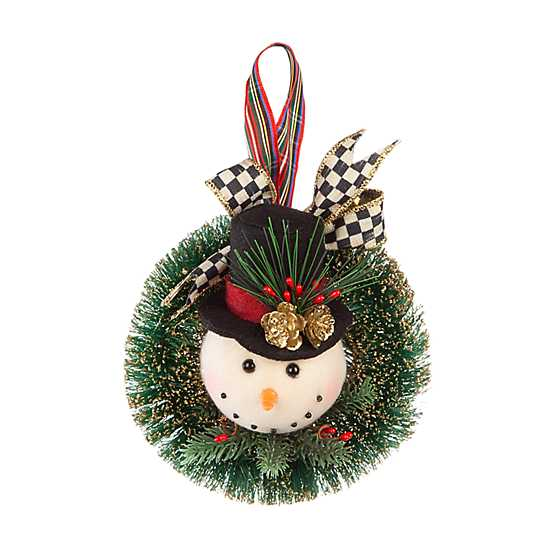 Snowman Wreath Ornament image one