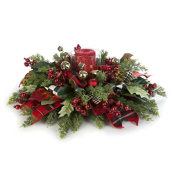 Deck the Halls Candle Centerpiece image three