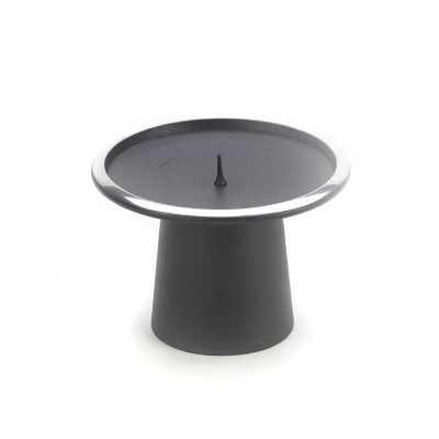 Small Pedestal Candle Holder - Black
