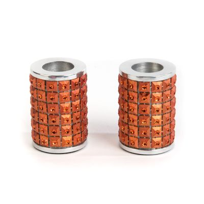 Studded Candle Holders - Copper - Set of 2