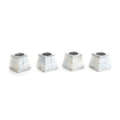 Pyramid Candle Holders - Mother of Pearl - Set of 4