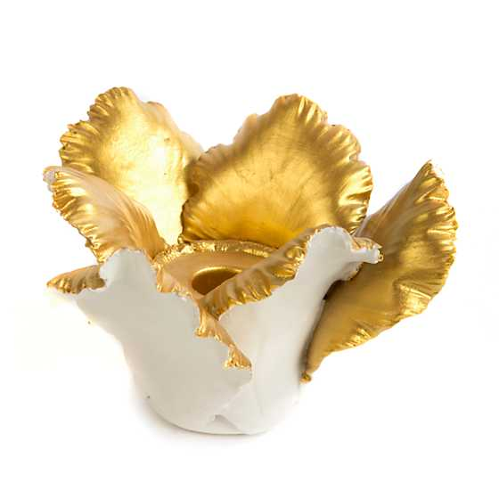 Daffodil Candle Holder - Ivory & Gold image two
