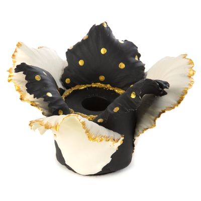 Daffodil Candle Holder - Black & White