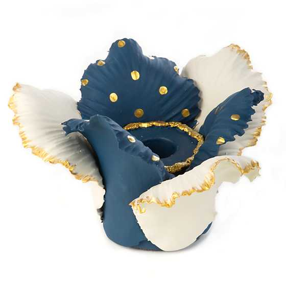 Daffodil Candle Holder - Blue & White