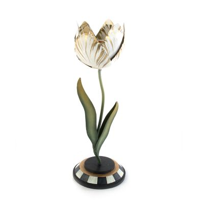 Image for Tulip Candle Holder - Gold & Ivory - Small