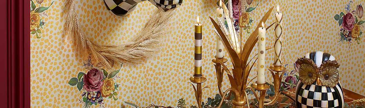 Golden Wheat Candlestick Banner Image