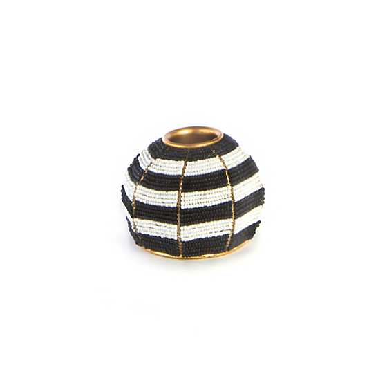 Beaded Stripe Candle Holder - Small