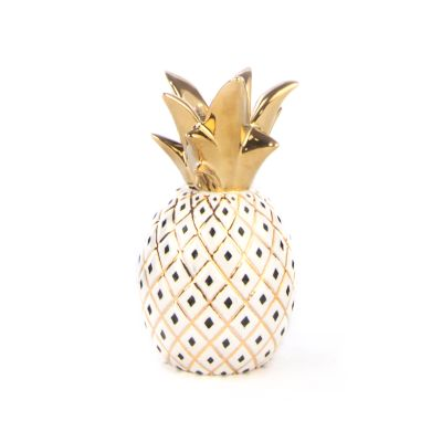 Pineapple Candle Holder - Small - White