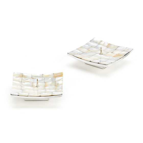 Mother of Pearl Candle Holders - Square - Set of 2 image two