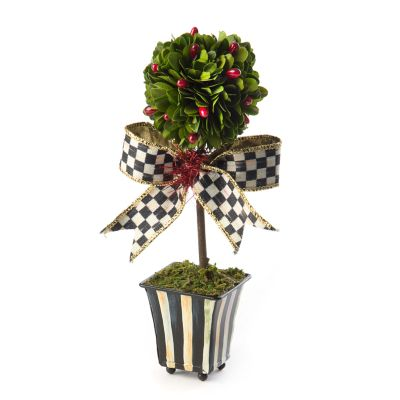 Deck the Halls Boxwood Topiary - Mini