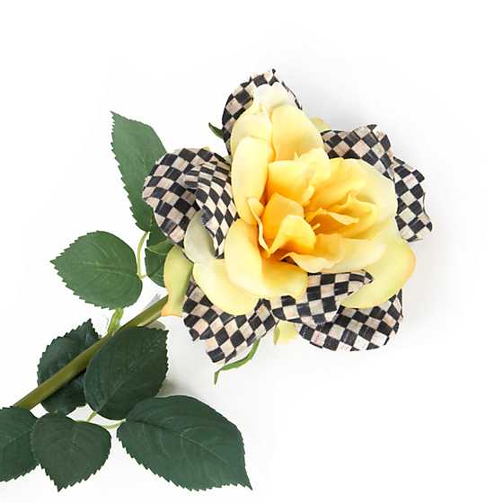 Courtly Check Rose - Yellow image three