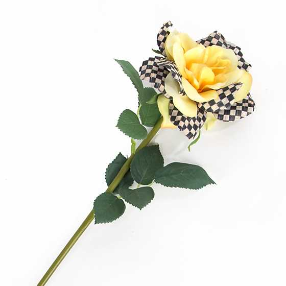 Courtly Check Rose - Yellow