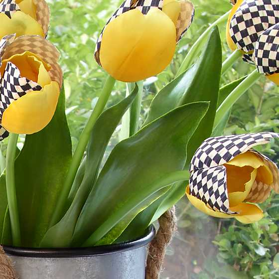 Courtly Check & Yellow Tulip image two