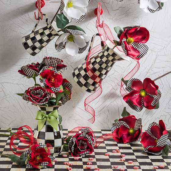 Courtly Check Rose - Red image six