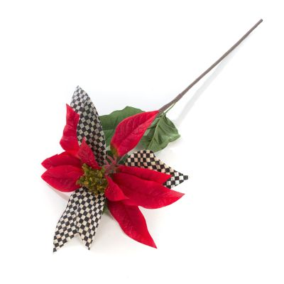 Courtly Check Poinsettia - Red
