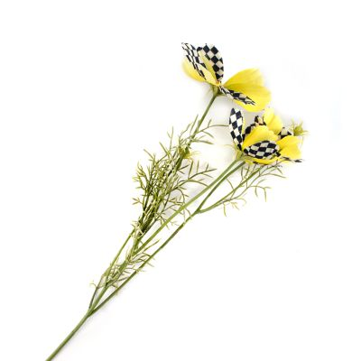 Courtly Check Cosmos Spray - Yellow
