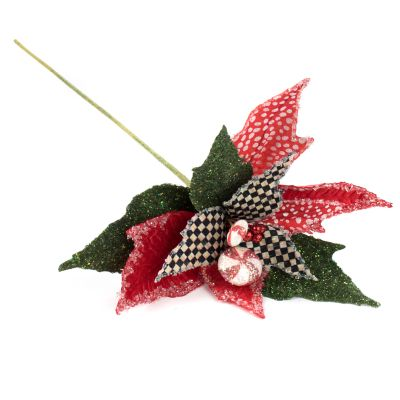 Peppermint Poinsettia Stem