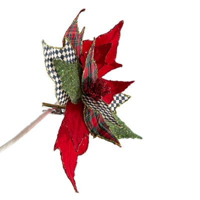 Happy Holidays Poinsettia Clip